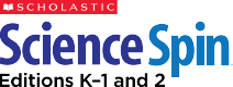 Scholastic Science Spin logo.
